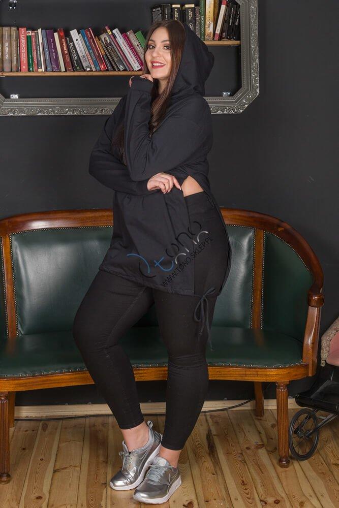 Czarna Bluza damska SYLVANA Casual Plus Size