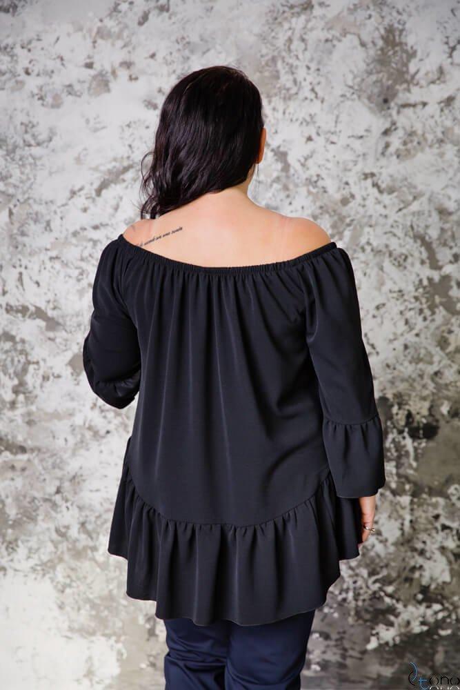Czarna Bluzka CARLITA Plus Size
