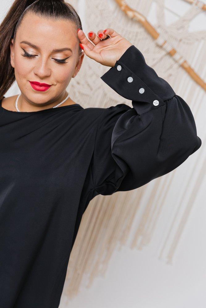 Czarna Bluzka KALIENTE Plus Size