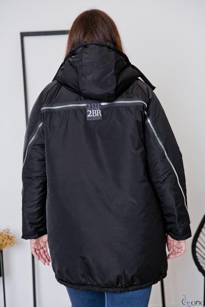Czarna Kurtka MERCAN Plus Size