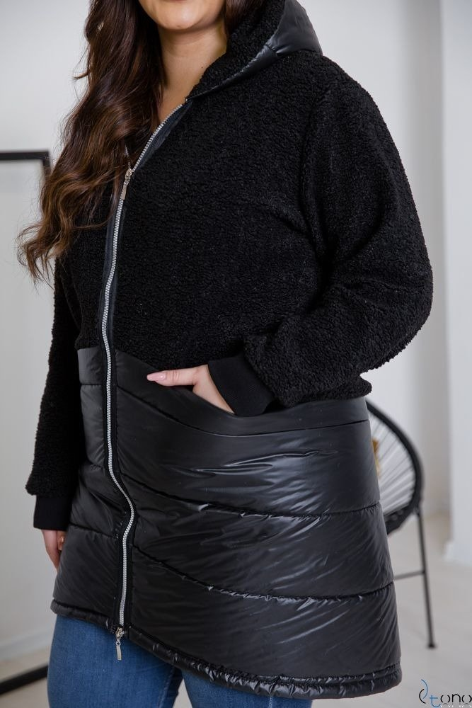 Czarna Kurtka MILI Plus Size