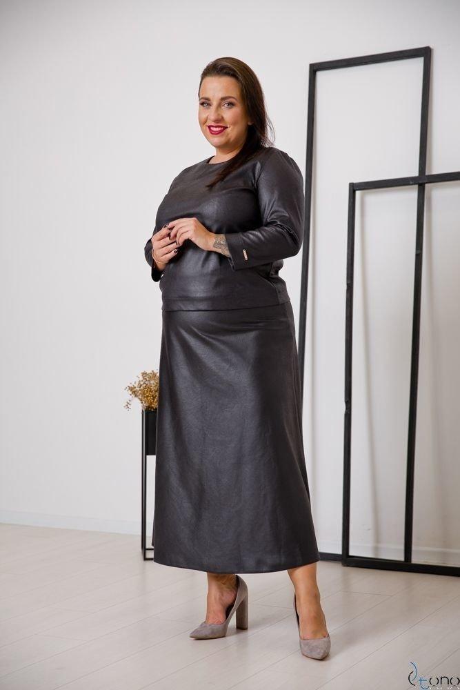 Czarna Spódnica CANTIA Plus Size