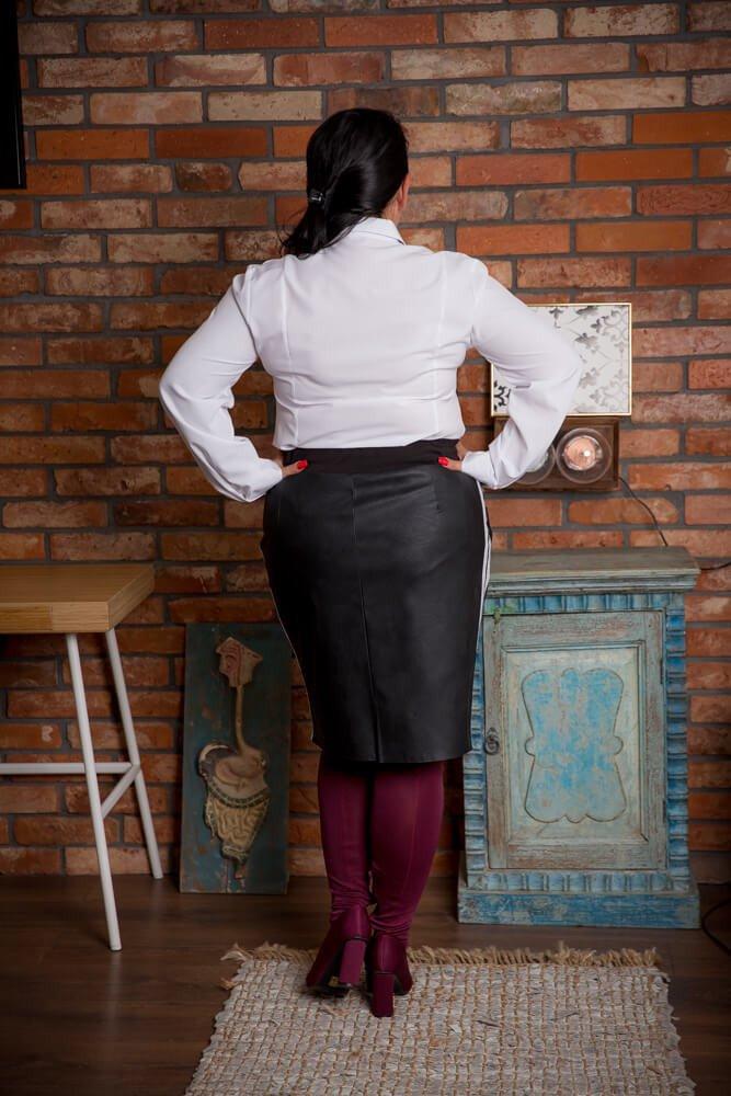 Czarna Spódnica KENDY Lampas Plus Size