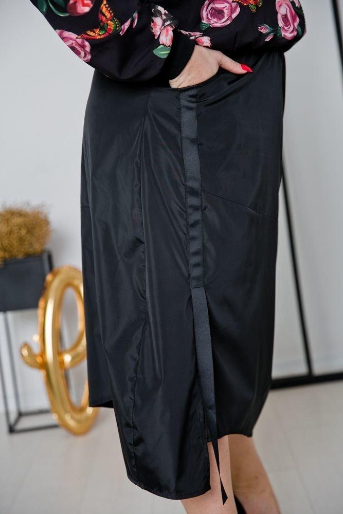 Czarna Spódnica SESTA Plus Size