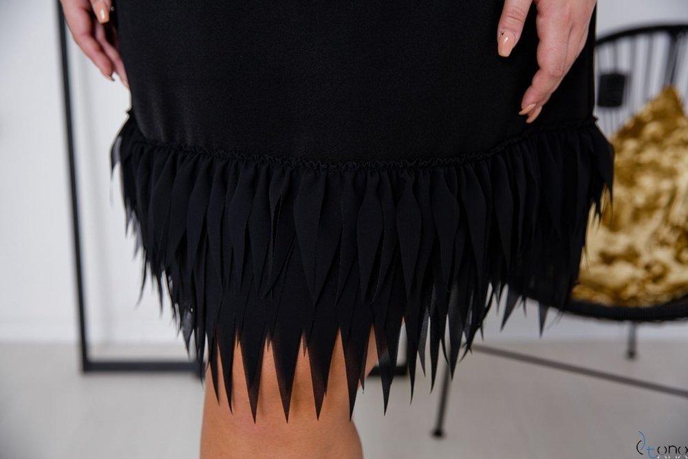 Czarna Sukienka CREPPA Plus Size