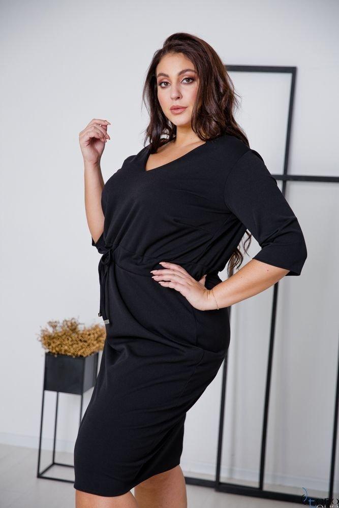 Czarna Sukienka ELMIRA Plus Size