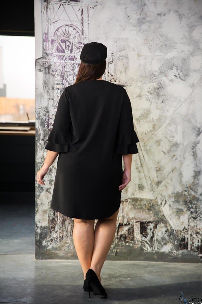 Czarna Sukienka EVEN Plus Size
