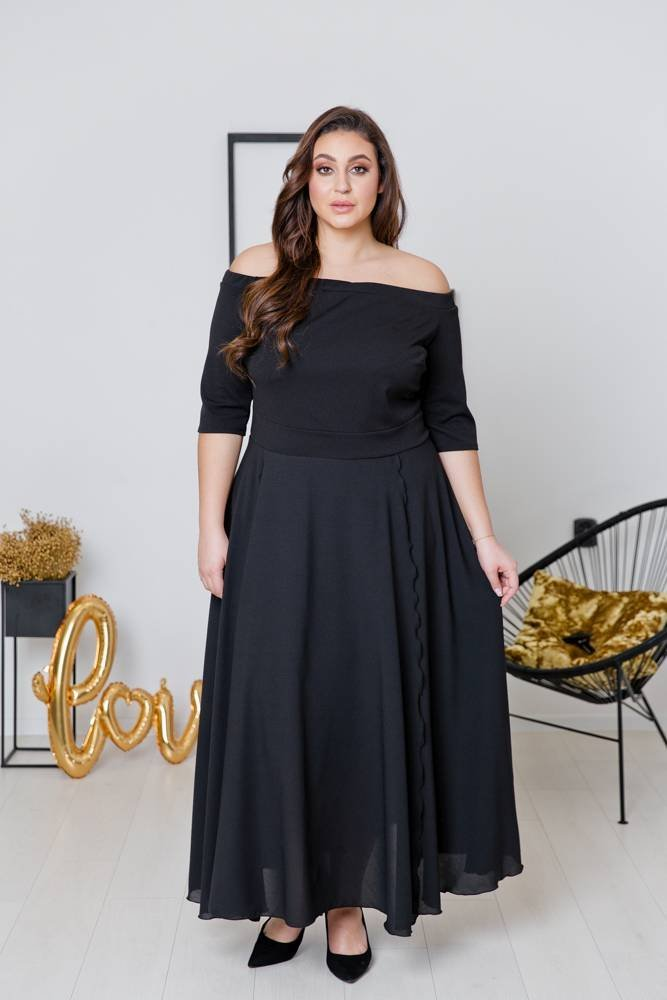 Czarna Sukienka FAVERA Plus Size