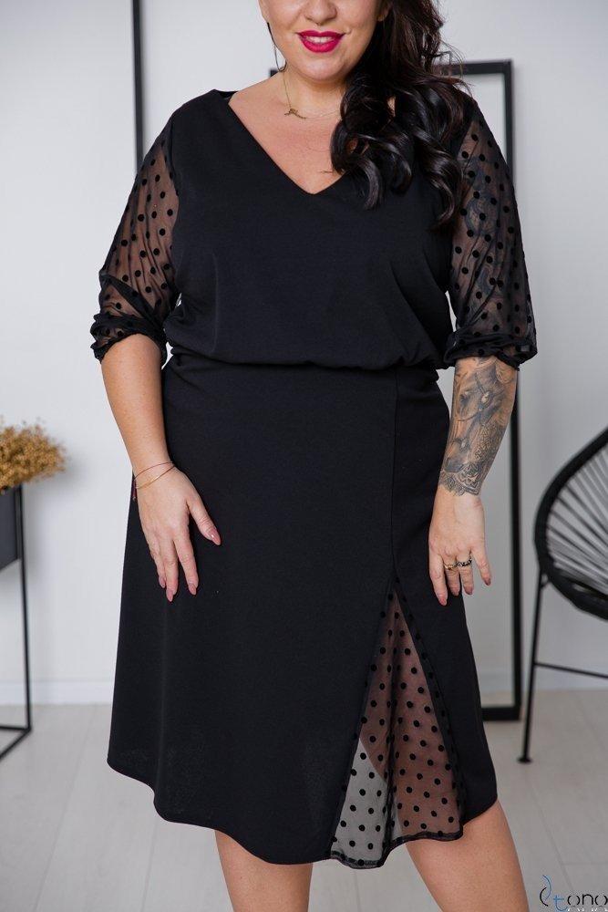 Czarna Sukienka INGA Plus Size