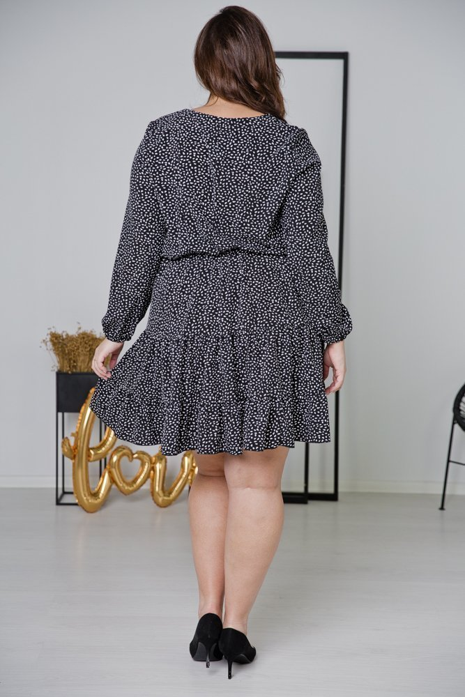 Czarna Sukienka MIRIAN Plus Size Wzór 2