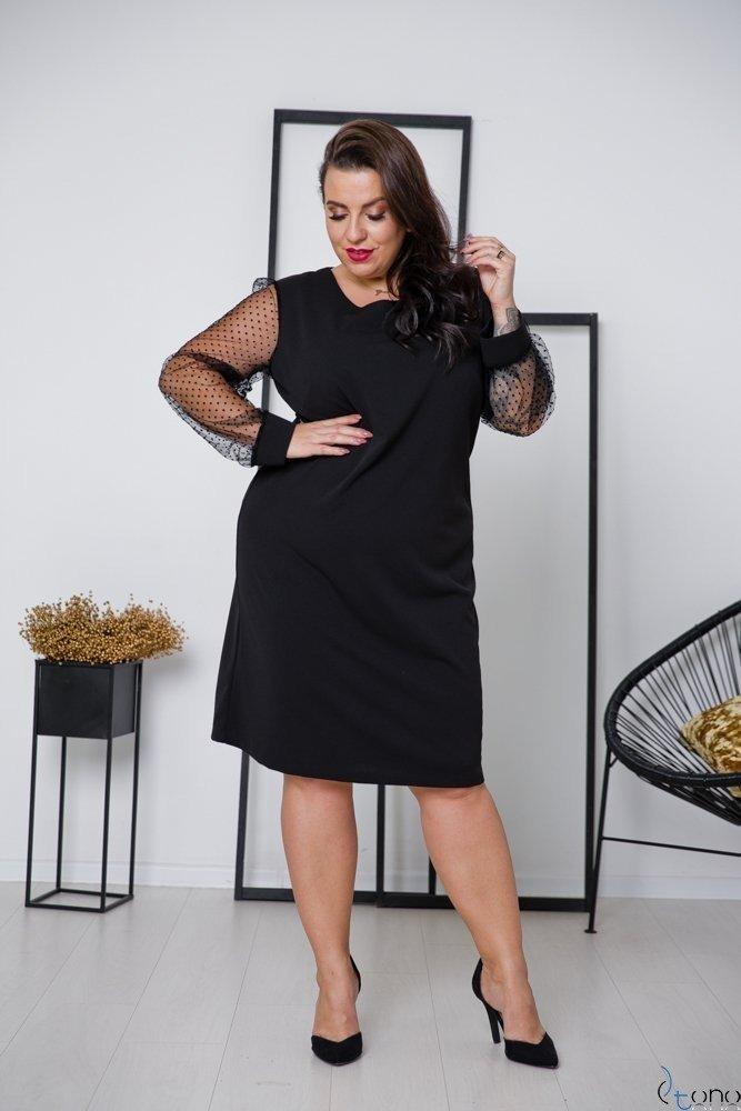 Czarna Sukienka ROBERTA Plus Size