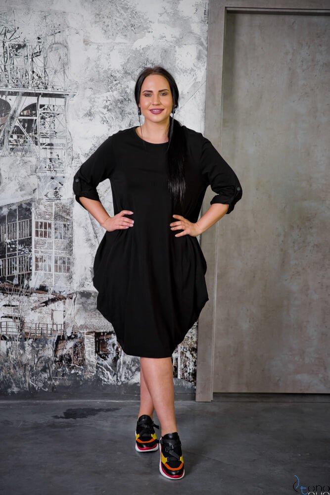 Czarna Sukienka SAYANA Plus Size