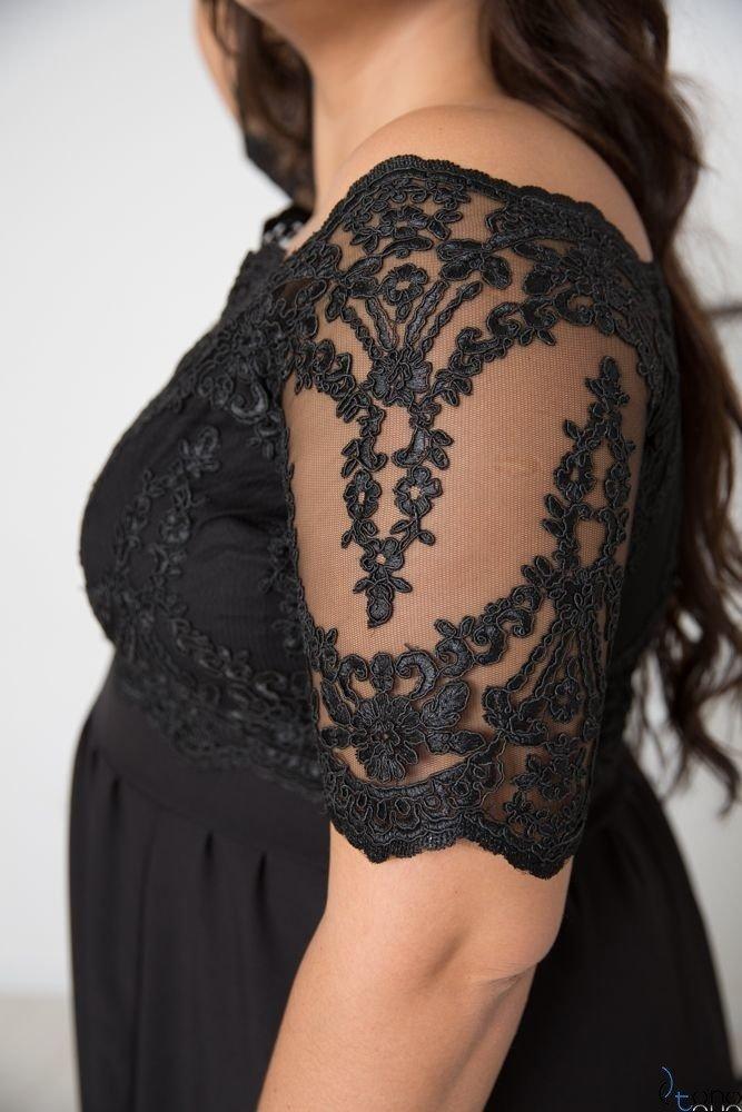 Czarna Sukienka VITTORIA Plus Size