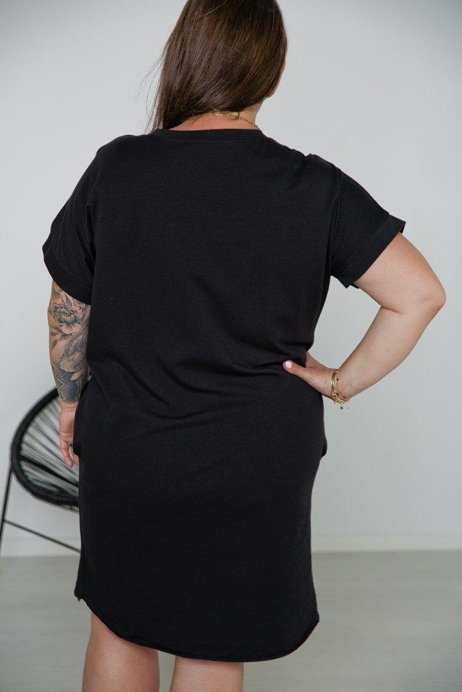Czarna Tunika MOMS LIFE CÓRKA Plus Size