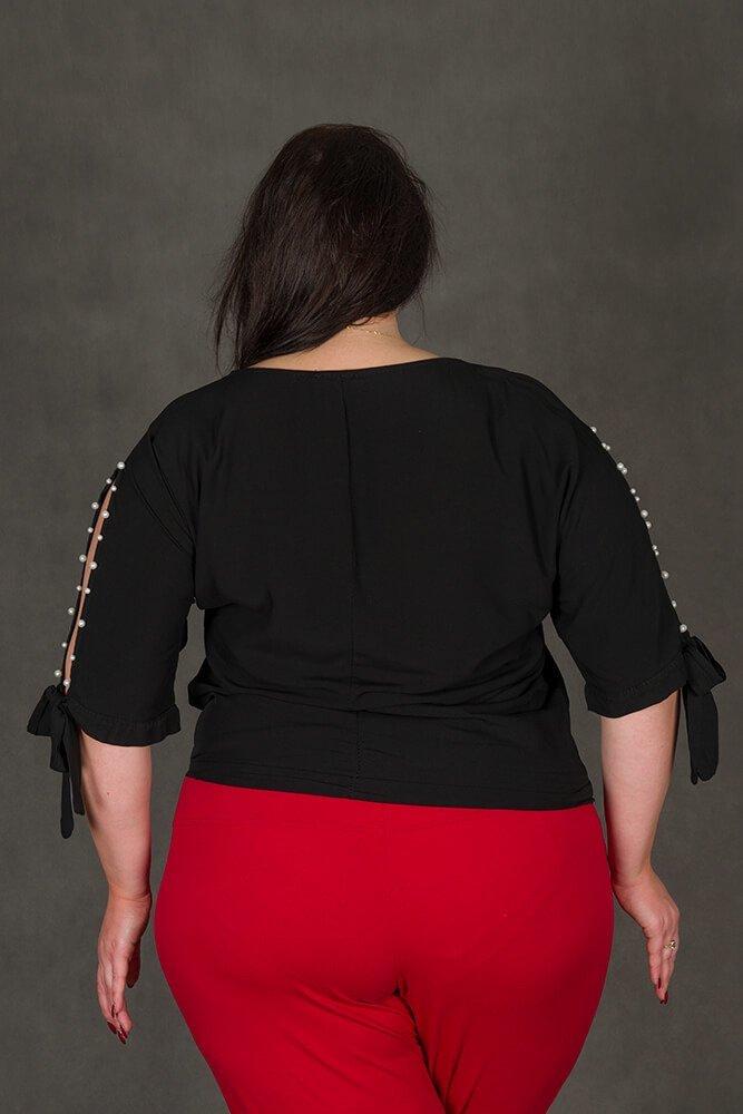 Czarna bluzka PASADA Kimono Perełki