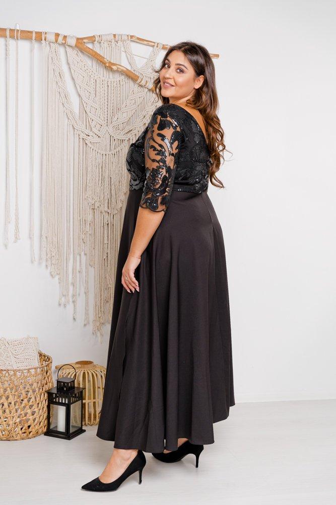 Czarna sukienka SONTA Plus Size