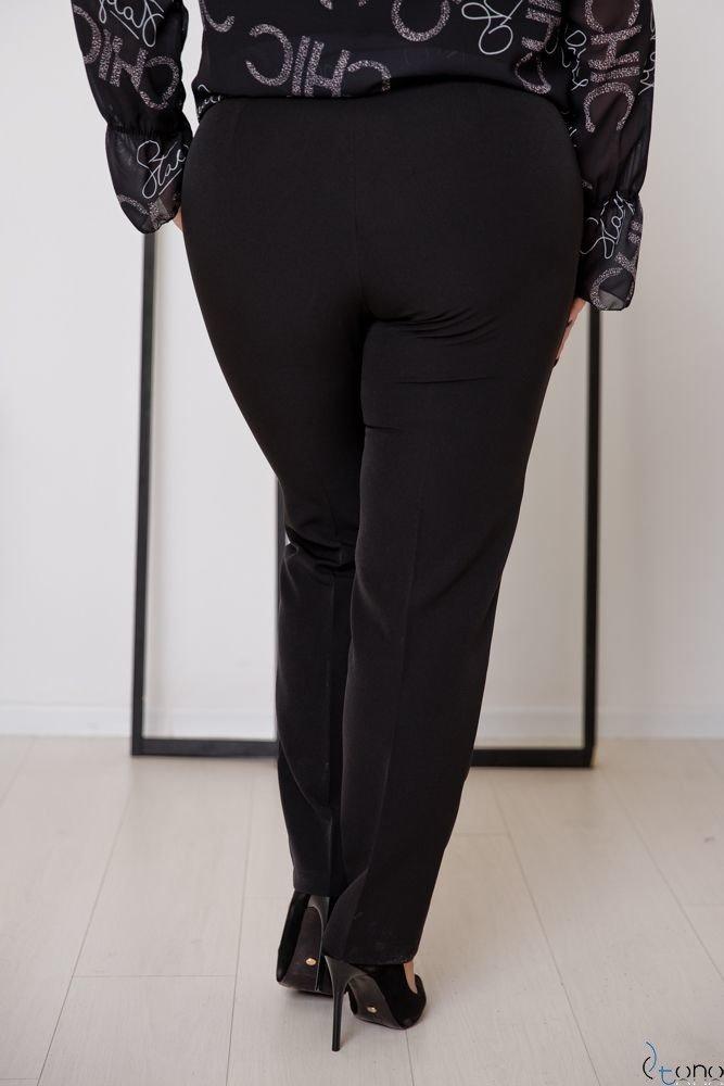 Czarne Spodnie SETIA Plus Size