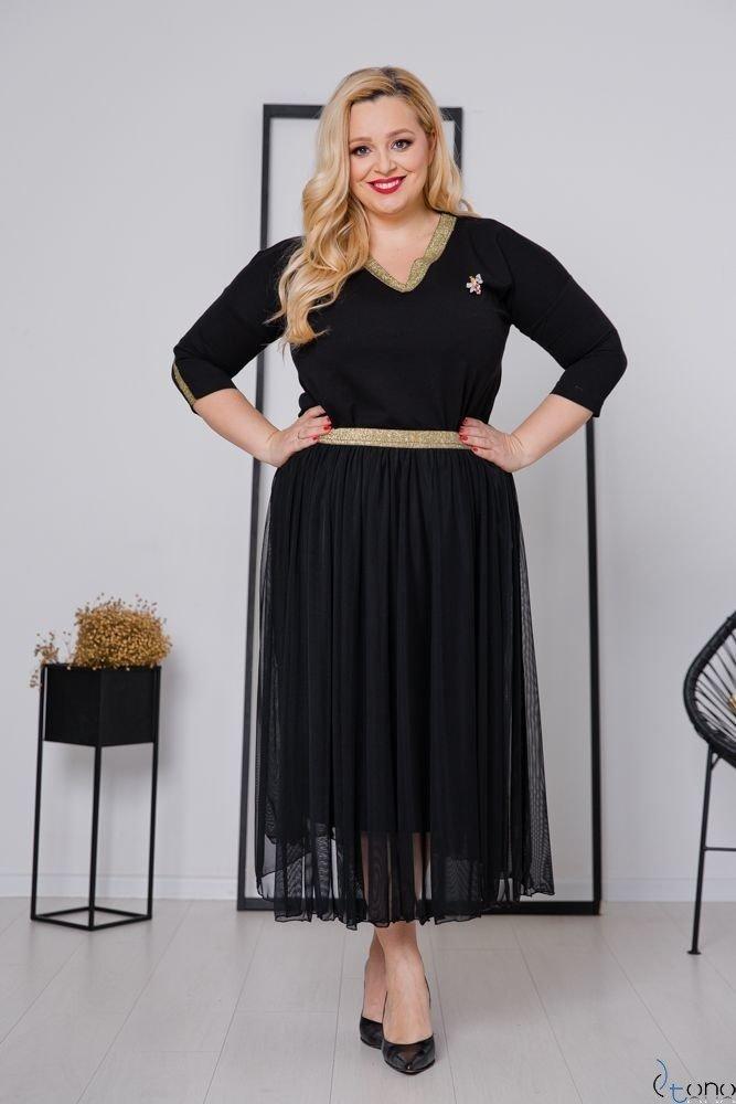 Czarno-Złota Spódnica GONNA Plus Size