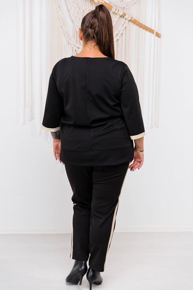 Czarno-złota Bluzka LOREN Plus Size