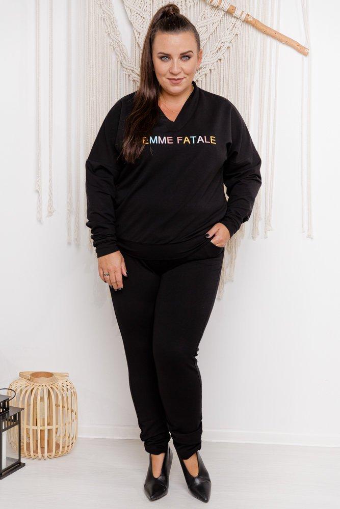Czarny Dres FEMME Plus Size