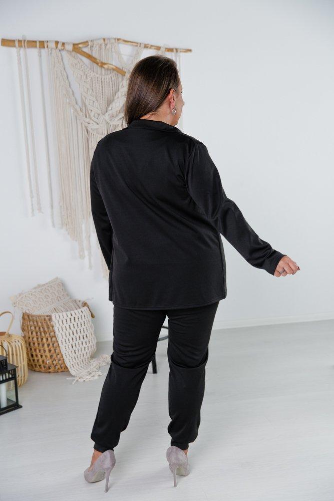 Czarny Garnitur FUTURO Plus Size