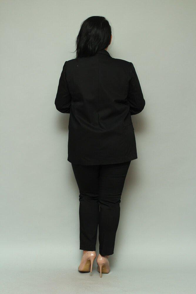 Czarny Żakiet damski VOLTENO Plus Size