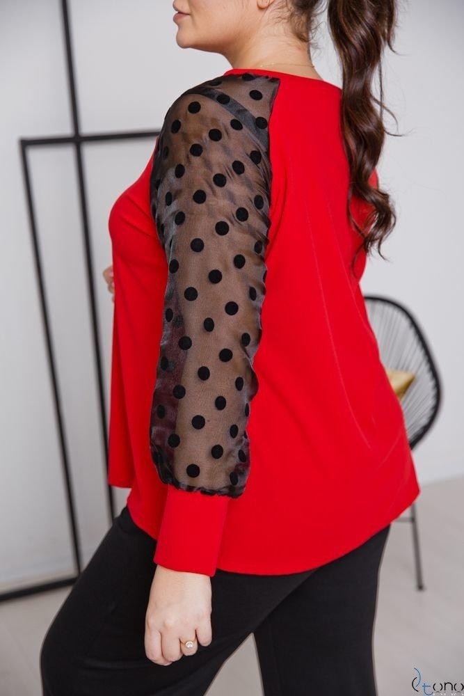 Czerwona Bluzka RELIA Plus Size