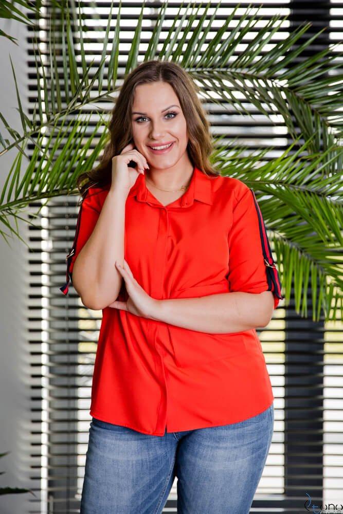 Czerwona Koszula PERIOD Plus Size