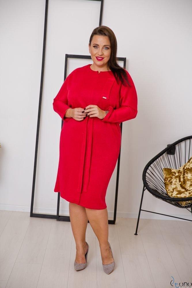 Czerwona Sukienka BOFETTA Plus Size