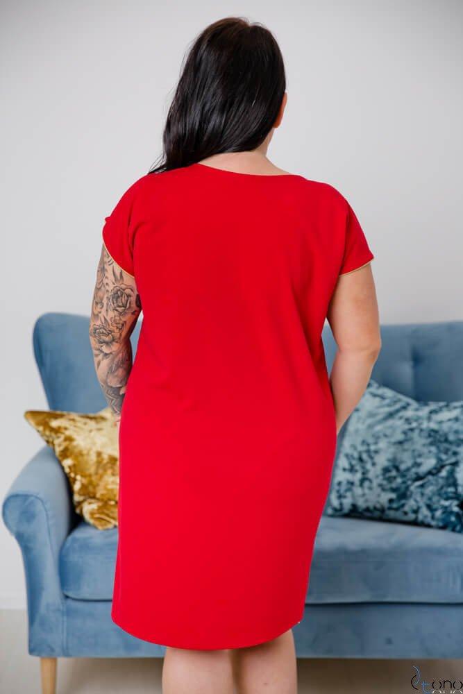 Czerwona Sukienka CARBONA Plus Size