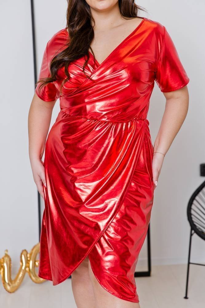 Czerwona Sukienka FLAME Plus Size
