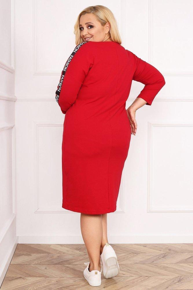 Czerwona Sukienka KENDAL Plus Size
