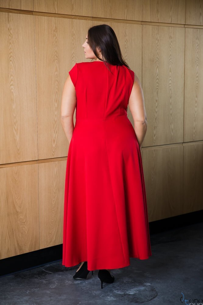 Czerwona Sukienka LOREDANA Plus Size