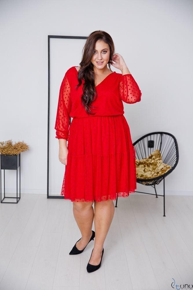 Czerwona Sukienka MATTIA Plus Size