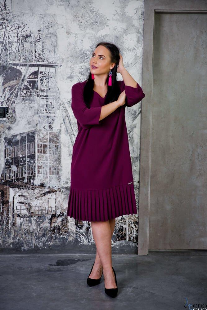 Fioletowa Sukienka CAMEA Plus Size