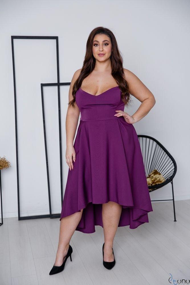 Fioletowa Sukienka MARELIA Plus Size