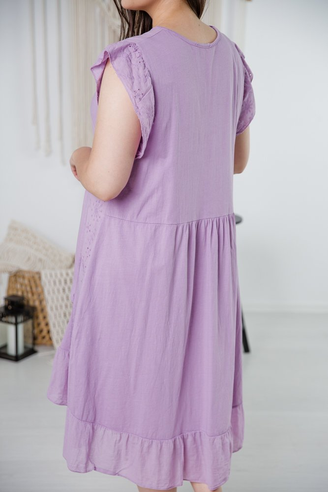 Fioletowa Sukienka NELIA Plus Size