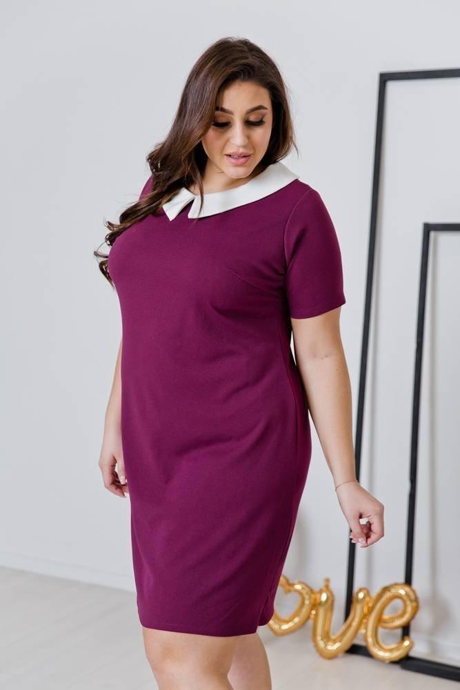 Fioletowa Sukienka VIRGO Plus Size