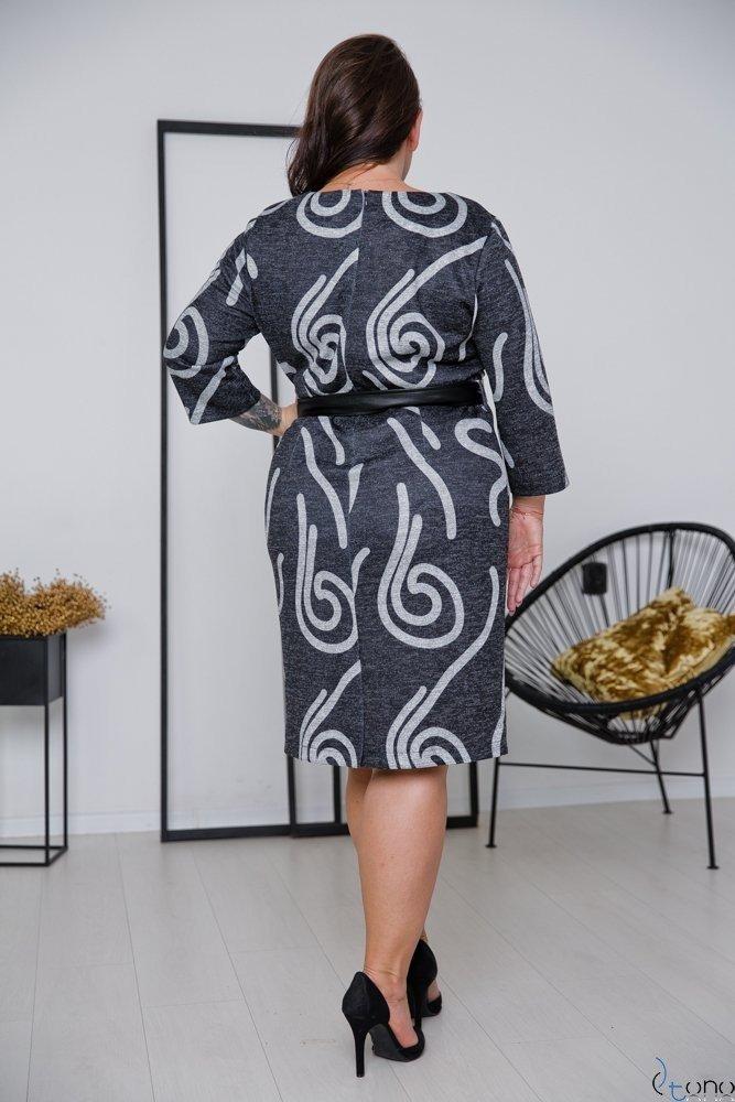 Grafitowa Sukienka BRITTA Plus Size