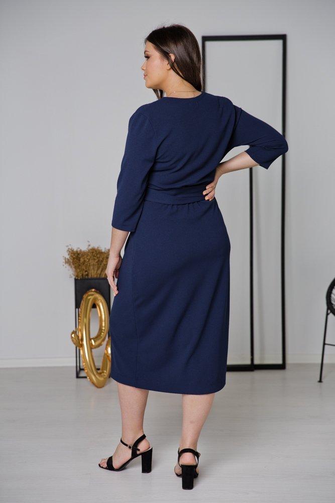 Granatowa Sukienka FERRERA Plus Size