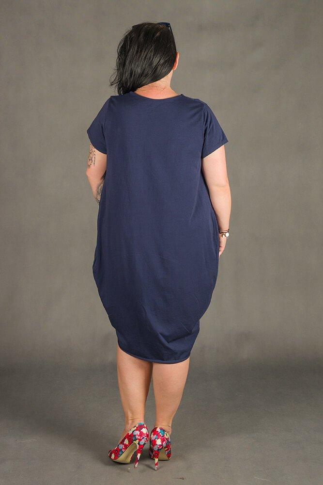 Granatowa Sukienka GALOPPE Plus Size