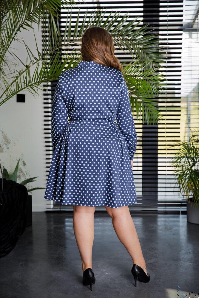 Granatowa Sukienka MARCYA Plus Size