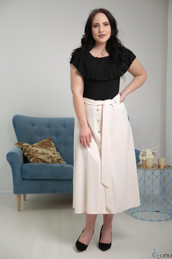 Jasnobeżowa Spódnica CANELLA Plus Size