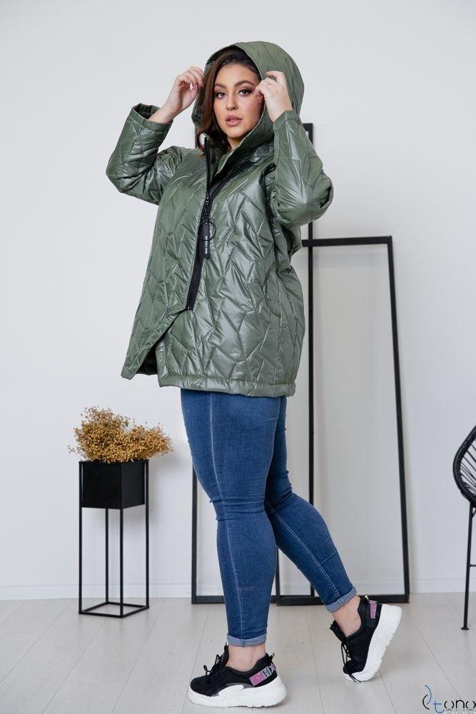 Khaki Kurtka BRAVITY Plus Size