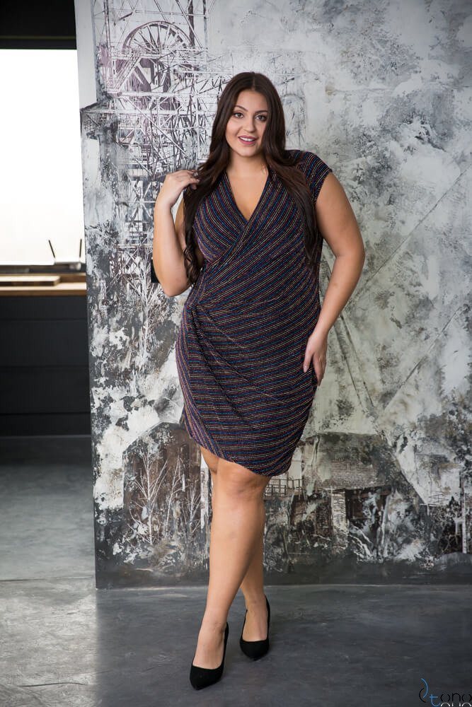 Kolorowa Sukienka VENGA Plus Size