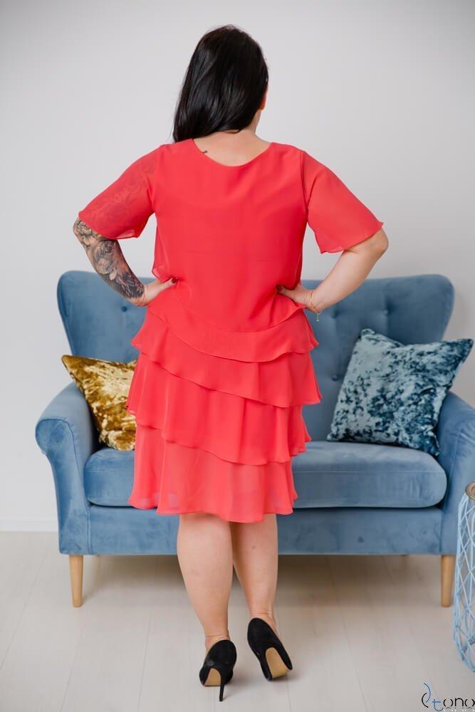 Koralowa Sukienka ORINA Plus Size