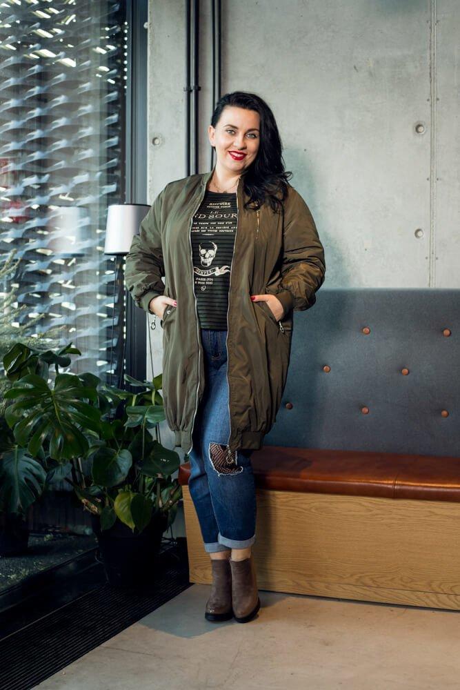 Kurtka damska ELLA Bomberka Designerska