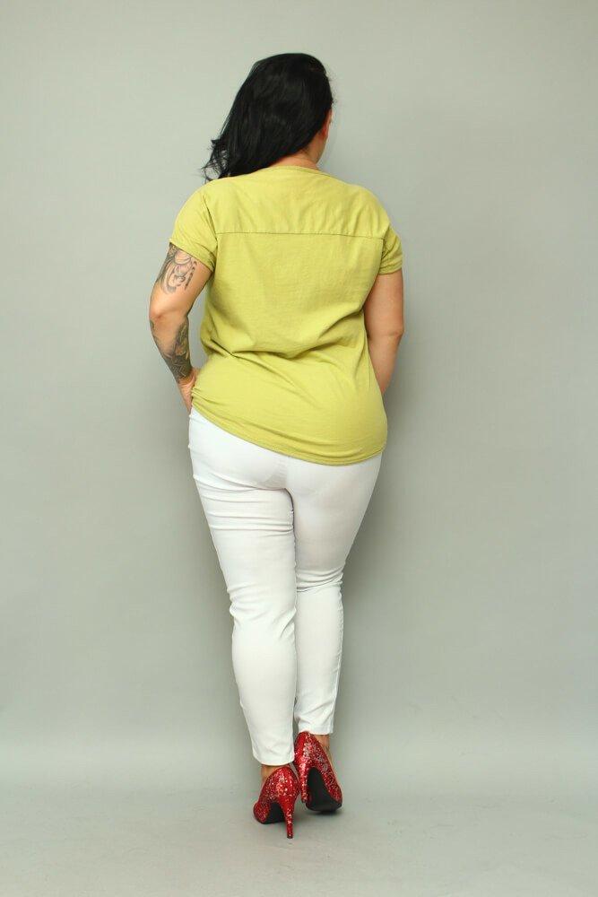Limonkowa Bluzka damska BETTER Plus Size