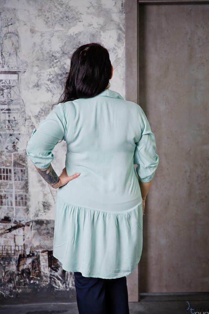 Miętowa Bluzka TERMINA Plus Size