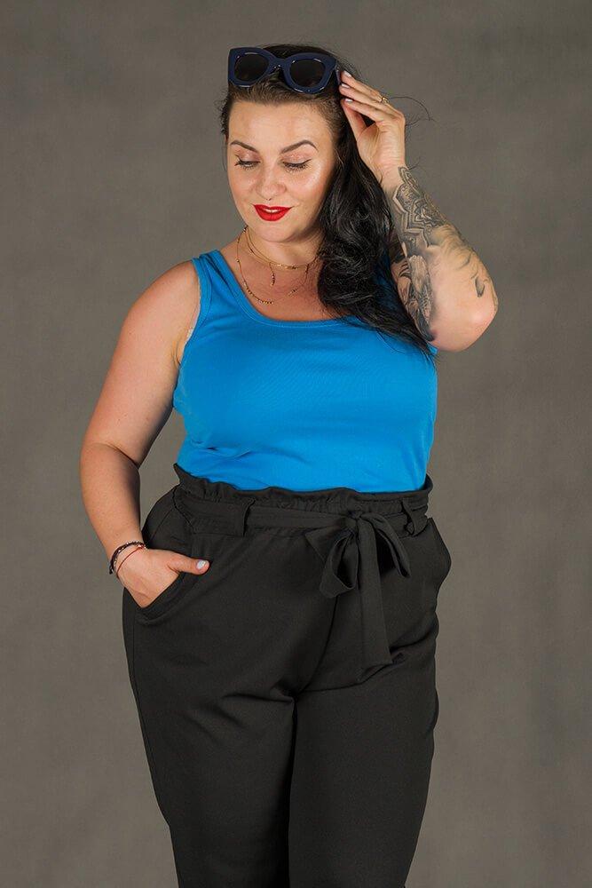 Niebieska Bluzka damska B38 Plus Size